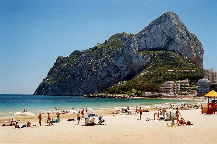 strand Calpe Spanje Costa Blanca